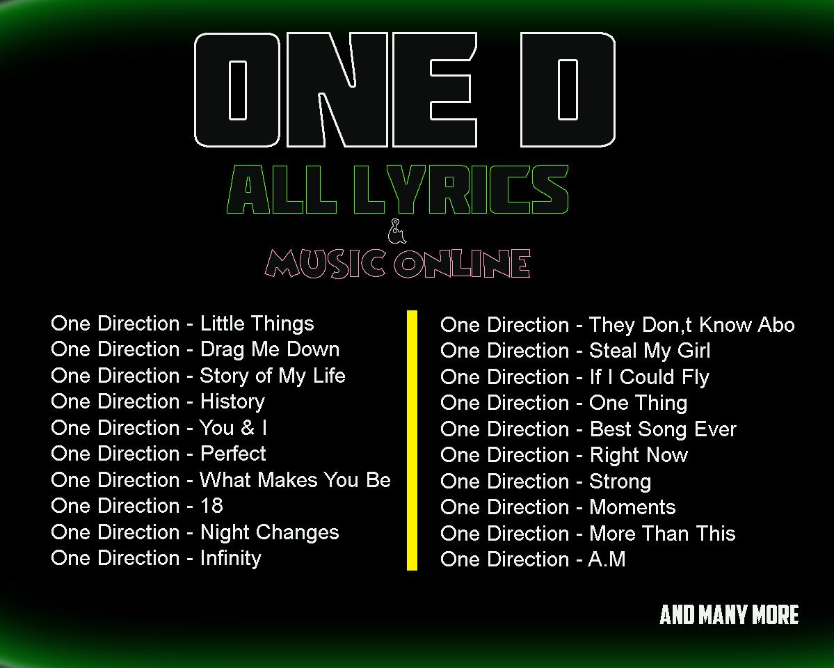 One Direction Harry Lyrics for Android   APK Download