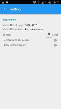 Mobile screen recorder video 2 apk screenshot