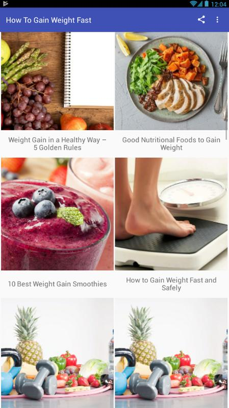 How To Gain Weight Fast For Android Apk Download