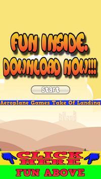 Aeroplane Game Take Of Landing poster