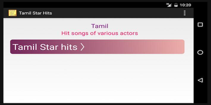 Tamil Hit Songs - by Actors screenshot 5