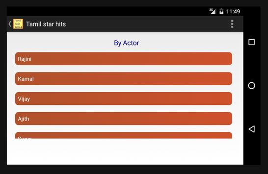 Tamil Hit Songs - by Actors screenshot 6