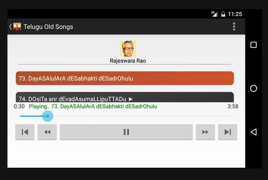Telugu Old Songs(తెలుగు) screenshot 6