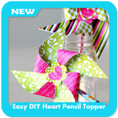 Easy DIY Heart Pencil Topper icon