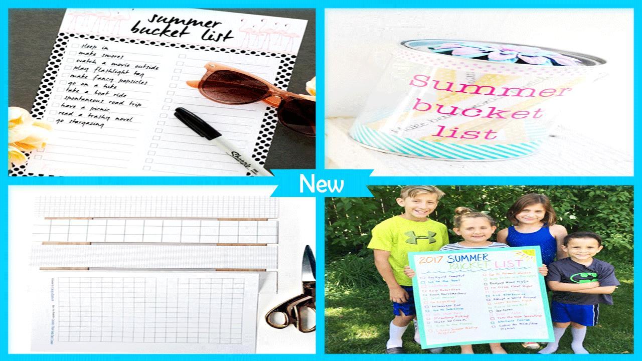 Summer DIY Bucket List poster