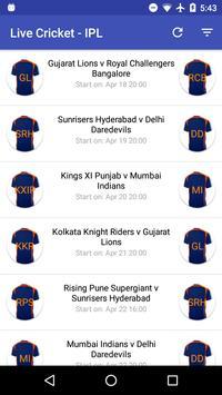 Live Cricket Scores apk screenshot