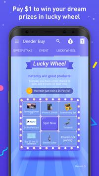 Oneder Buy– Lucky to win the lowest price. screenshot 3