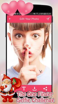 The one-finger selfie poster