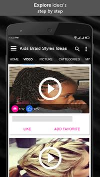 Kids Braid Styles Ideas screenshot 2