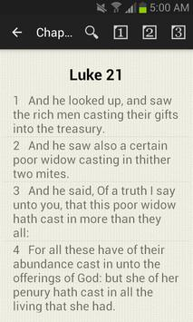 Chapter Bible LUKE 21 poster