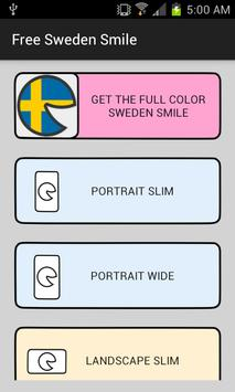 Free Sweden Smile poster