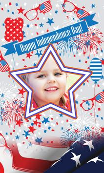4th July US Independence frame poster