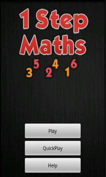 One Step Maths poster
