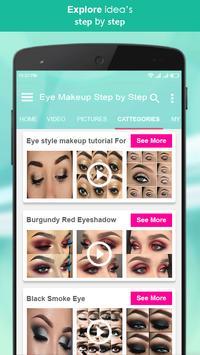 Eye Makeup Step by Step 2018 screenshot 3