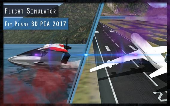 Flight Simulator 3D PIA 2017 apk screenshot