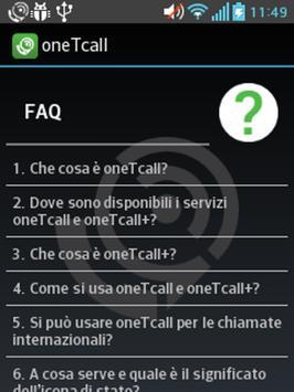 oneTcall apk screenshot