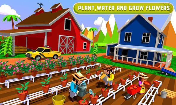 Flower Farming : Garden Building & Decoration poster