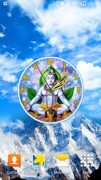 God Shiva Clock poster