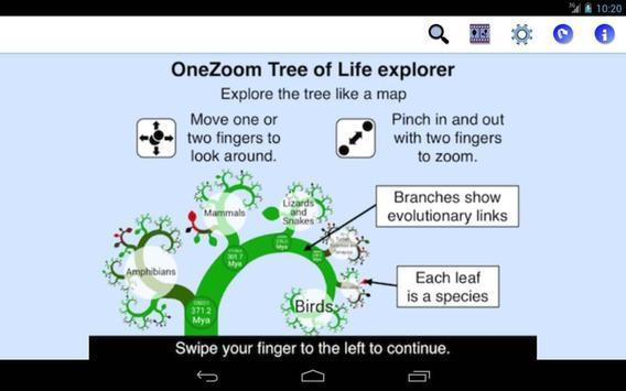OneZoom Tree of Life Explorer apk screenshot