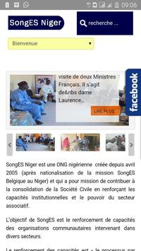 ONG SongES Niger poster