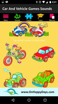 Cars & Vehicles Sound for Kids poster