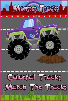 Monster Trucks For Girls:Match screenshot 3