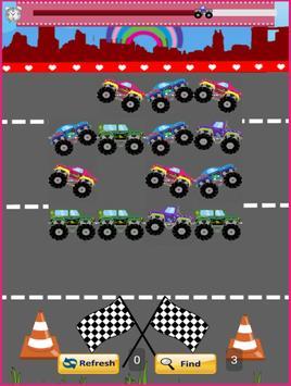 Monster Trucks For Girls:Match screenshot 2