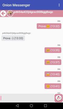 Onion Messenger captura de pantalla 4