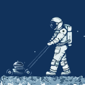 Walking on the moon icon