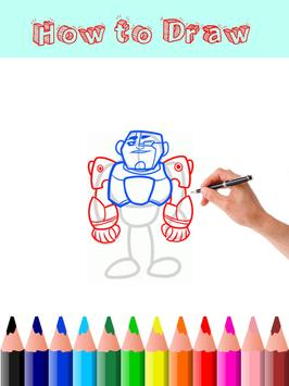 How to Draw Teen Titans Go apk screenshot