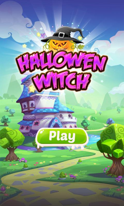 halloween witch match 3 games poster