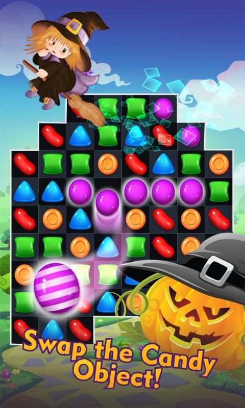 halloween witch match 3 games apk screenshot
