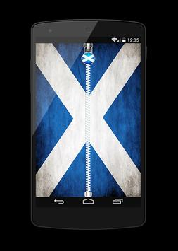 scotland Flag Lock Screen poster