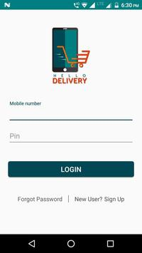 Hello Delivery screenshot 1