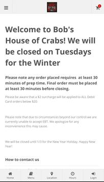 Bob's House of Crabs poster