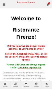 Ristorante Firenze Ordering poster