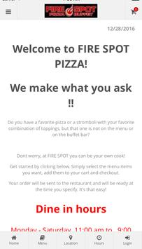 Fire Spot Pizza Ordering poster