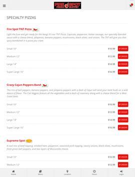 Fire Spot Pizza Ordering screenshot 5