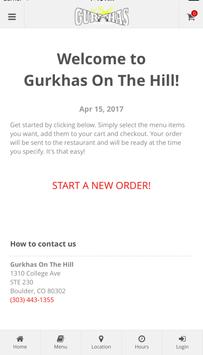 Gurkhas On The Hill Ordering poster
