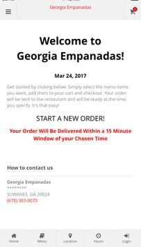 Georgia Empanadas Ordering poster