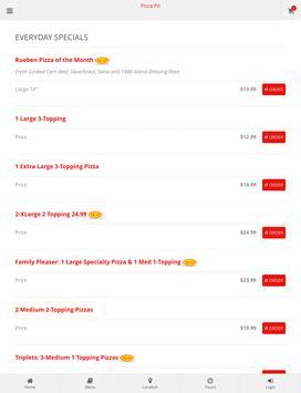 Oregon Pizza Pit Ordering apk screenshot