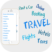 Online Booking- Airline Tickets, Hotels , Cars... icon