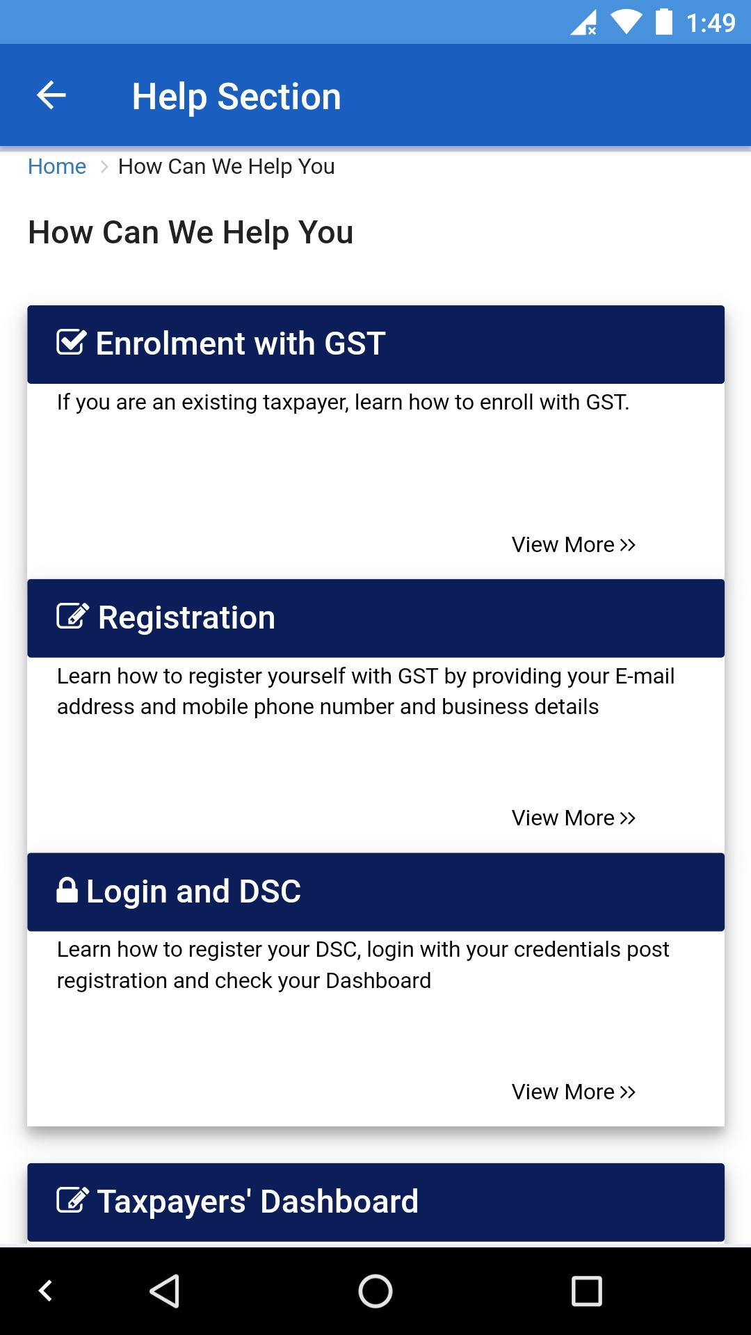 GST Check Status - Track Application for Android - APK Download