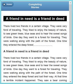 Completing Story apk screenshot