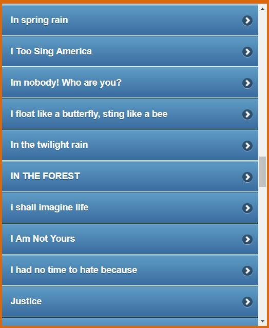 100 Famous Short Poems for Android - APK Download
