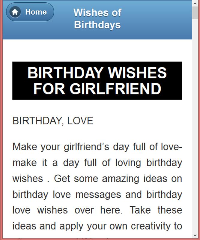 All Type Birthday Wishing SMS Screenshot 10