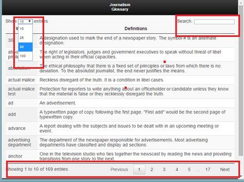 Glossary of Journalism Terms apk screenshot