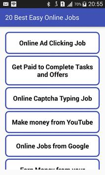 20 Best Easy Online Jobs poster