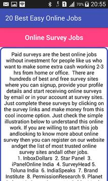 20 Best Easy Online Jobs apk screenshot