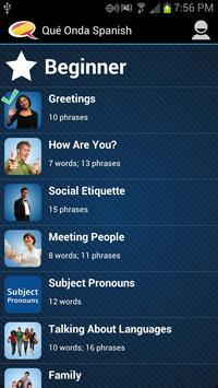 Learn Spanish - Qué Onda screenshot 1